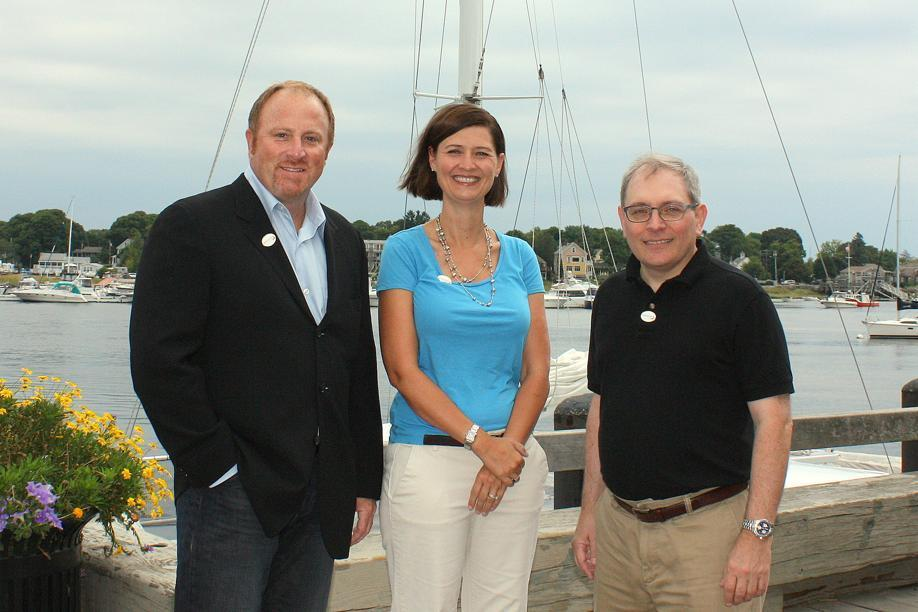 David Strand, Michelle Piotrowski, and Joe DiBiase are board members of Newburyport Foward, which supports expansion of the waterfront park.